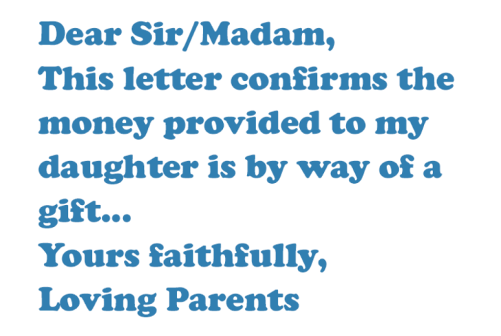 gifting letter template