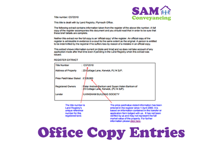 Office Copy Entries