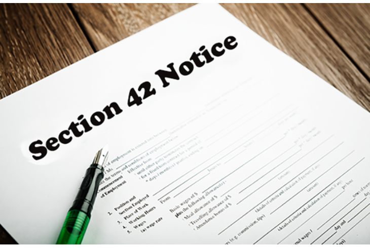 Section 42 Notice - What You Need to Know