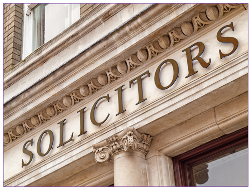 Picture of the sign above a solicitors office to illustrate an established firm offering the best solicitors for buying a house