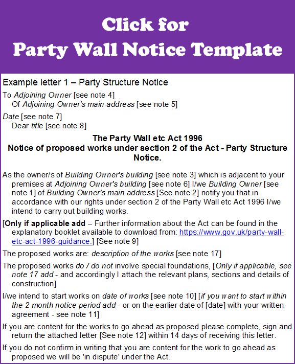 Party-Wall-Notice-Template