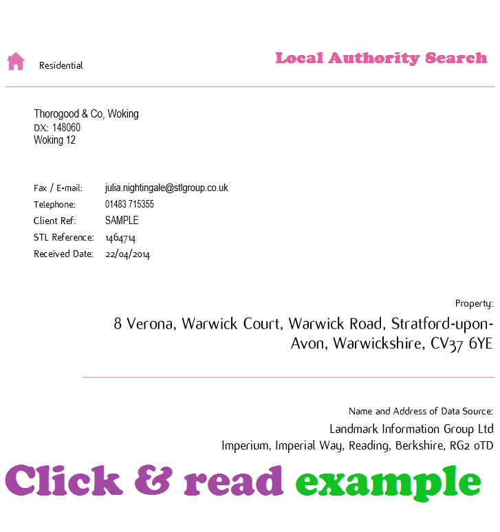 Local authority search